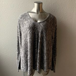 Old Navy Marl Gray Oversized Knit Long Sleeve Top